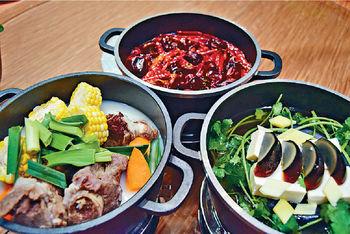 暖笠笠火鍋2人套餐  $248<p/>  ■(湯底芫荽皮蛋、豬骨、四川麻辣 3選一)