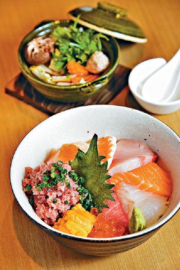 ■碎吞拿魚海鮮飯套餐<p/>  $118(午餐)