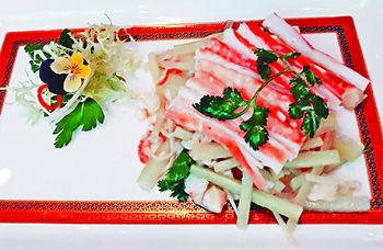涼拌金菇青瓜鮮蟹肉