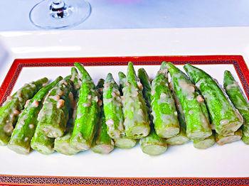 腐乳炒秋葵