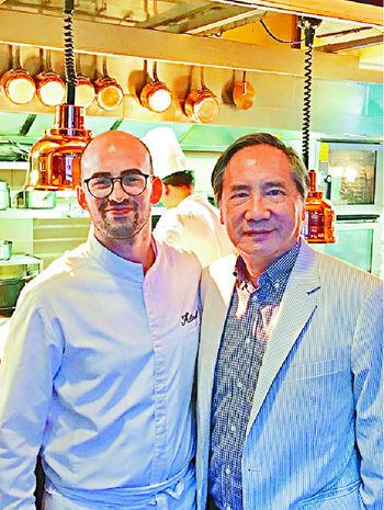■跟Allard的大廚Chef Florian合照
