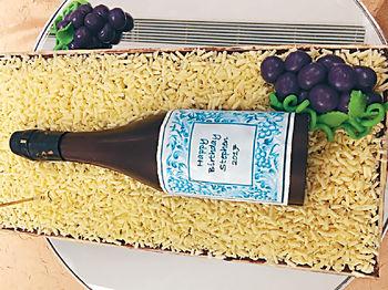 我的紅酒生日蛋糕