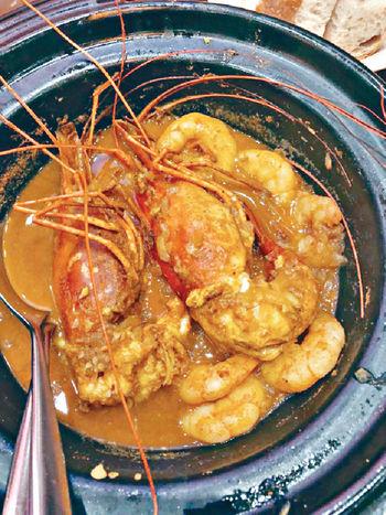 咖喱大蝦煲