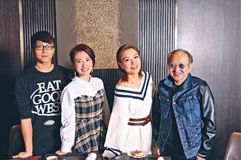 ■阿田、坤哥和家旻都是首次拍攝50集長劇,大家對足9個月,因而變得好熟絡。