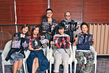 ■Paco和劉天蘭為四位新演員(前左起)余香凝、梁雍婷、談善言和林耀聲打氣。