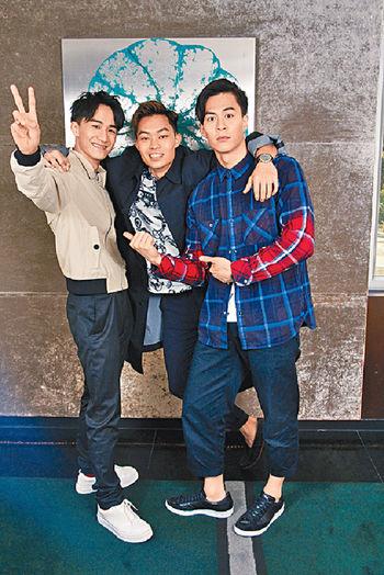 ■(左起)吳肇軒、胡子彤和朱鑑然齊為電影夢努力。