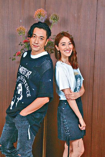 ■吳卓羲和陳凱琳首次合作就扮演情侶,並拍得好開心。