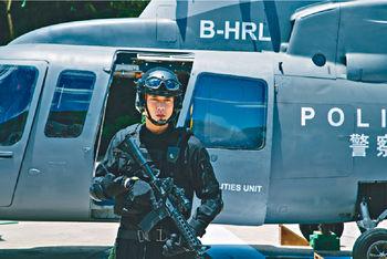 ■黃宗澤今次飾演飛虎隊員,直昇機拯救那場好精彩。